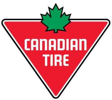 A logo for Canadian Tire #344 in Grande Prairie, Alberta.