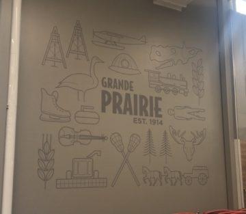 A Grande Prairie sign at Canadian Tire #344 in Grande Prairie, Alberta.