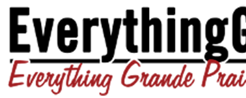 Everything Grande Prairie Logo written in black and red