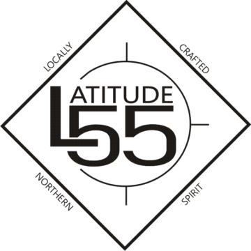 Logo for Latitude 55 in Grande Prairie, Alberta.