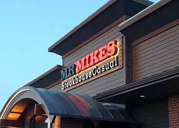 Outside view of Mr Mikes Steakhouse Casual in Grande Prairie, Alberta.