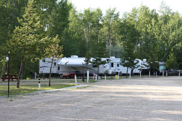 An RV site at Sherks RV site