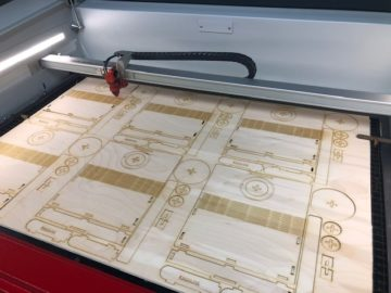 Engraving machine from Redline Engraving in Grande Prairie, Alberta.