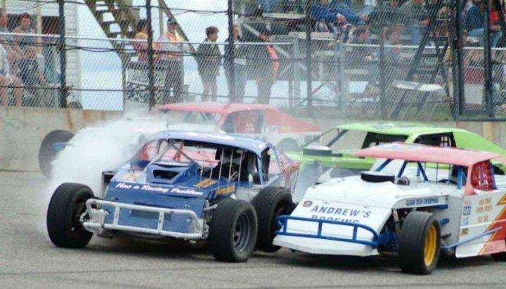 Stock car racing in Hythe