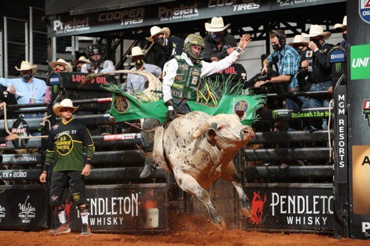 man riding bull - fall fun in gp and region