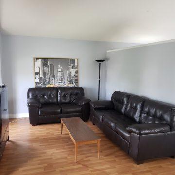 Living room at Fresh Coast Investments in Grande Prairie, Alberta.