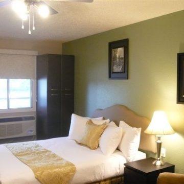 Bedroom at Fresh Coast Investments in Grande Prairie, Alberta.