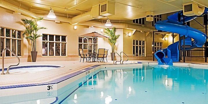 holiday inn indoor pool and waterslide - stay in grande prairie
