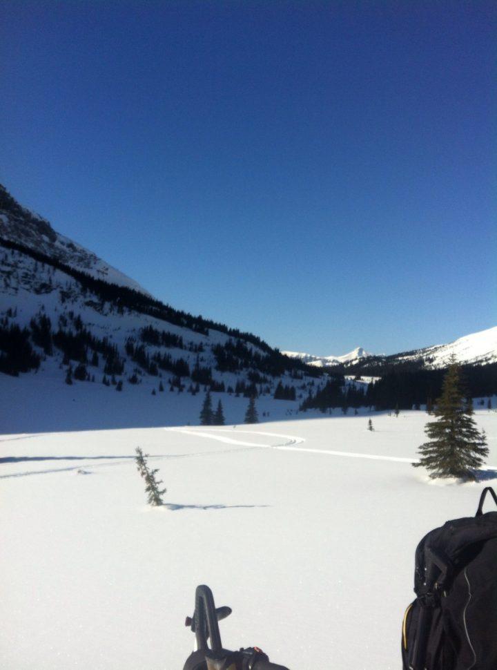snowmobiling in kakwa area