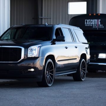 Executive Driving Services SUV and Party Bus in Grande Prairie, Alberta.