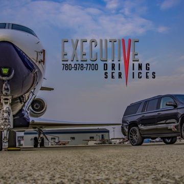 Executive Driving Service plane and SUV