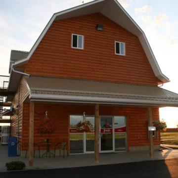 The campground office at Happy Trails RV Park in Grande Prairie, Alberta.
