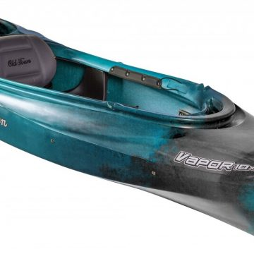 A kayak for rent at Breathe Outdoors and Adventures in Grande Prairie, Alberta.