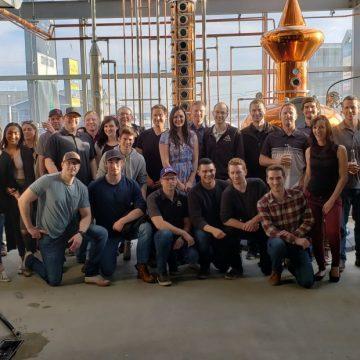 A staff photo at Broken Oak Distilling Co in Grande Prairie, Alberta.