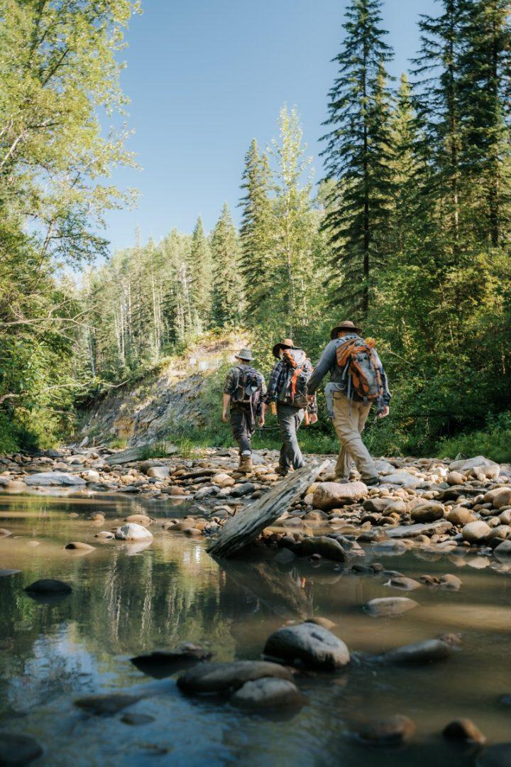 pipestone creek bonebed - walking and hiking trails