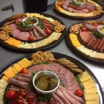 Meat, cheese, and cracker platters from from Citrus Catering in Grande Prairie, Alberta.